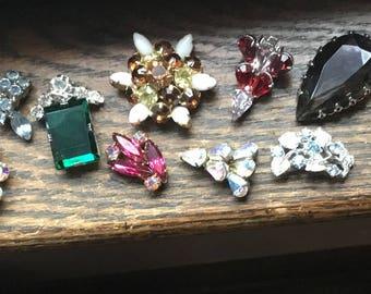 10 rhinestone earring tops for crafting