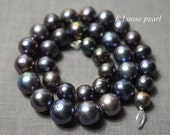 90% OFF Edison Pearl,Large hole pearl Freshwater Pearl,Nucleated Pearl 11.5-14mm Round Necklace pearl,Loose pearls Peacock purple PL4295