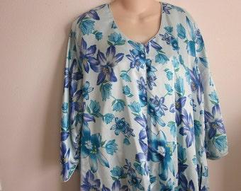 Caftan dress robe lounge wear nightgown kimono one size  L XL 1X