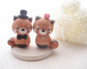 Custom Wedding Cake Toppers - Cute Red panda