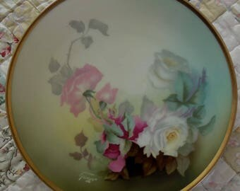"""8 3/8"""" Hand Painted Signed Bavarian Plate"""