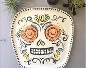 Day of the Dead Sugar Skull Platter