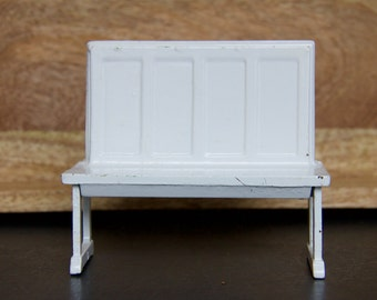 Vintage Cast Iron Arcade Breakfast Nook Dollhouse Bench
