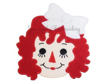 Raggedy Ann patch - Doll Patch - Rag Doll Patch - Iron on Patch - Sew on Patch - Applique Patch - Iron on Applique - Patch
