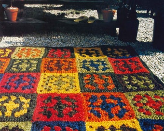 SISAL Crochet Patchwork RUG Pattern, Indoor, Outdoor, Carpet, Rug, Crochet PDF Pattern, Crochet Instant Download