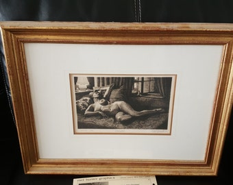 Odalisque lithograph by mel hunter
