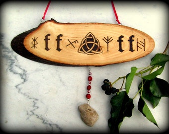 Traditional Anglo-Saxon House Blessing Plaque - Witchcraft, Magic, Pagan, Wicca