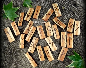 English Churchyard Yew Rune Staves: Divination, Viking, Norse, Witchcraft, Wicca, Pagan
