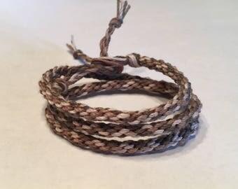 Triple Wrap Camo Bamboo Cord Bracelet