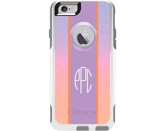 Pink Ombre Personalized Custom Otterbox Commuter Case for iPhone 6 and iPhone 6s