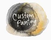 Custom Painting - 12x12 on wood panel - commission