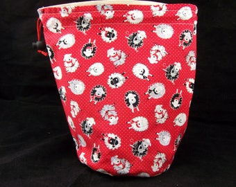 R/M/S/W Project bag 603 Dinky Knitting Sheep