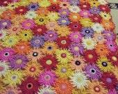 ON SALE - 10% OFF Flowers Crochet Blanket Baby Crib Afghan