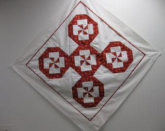 "Disappearing Pin Wheel Wall Quilt or Table topper 35"" x 35"""