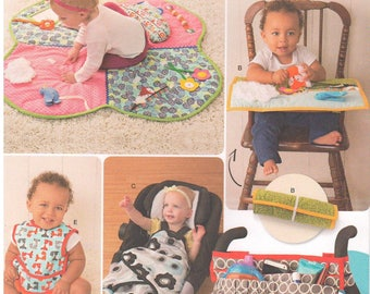 2016 - Simplicity 8110 Sewing Pattern Baby Infant Toddler Playmat Stroller Blanket Organizer Bibs Accessories Uncut