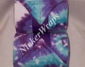 NickerWraps Tie Dye Turquoise Purple2 Polo Wraps -  FREE US Shipping