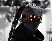 RESERVED for kashumidyu - Custom made to order Hivemind v.3 Cyberpunk scifi LED dystopian light up goggles - Choose colors.