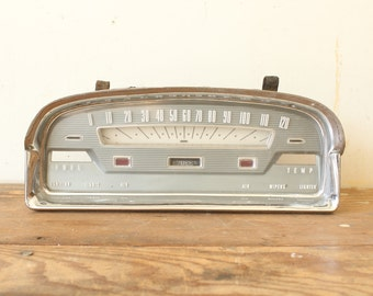 Vintage Car Speedometer Gauge Automobile Ford 1959 Auto Buff Man Cave Decor Display