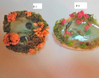 Fairy Ponds-OOAK-Choice of 2 Styles-Polymer Clay Fish/Black Swan