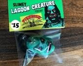 Slimey LAGOON CREATURE Pendant - Vintage Mask Style