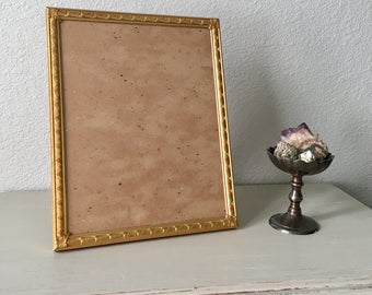 8x10 Picture Frame / Lovely 24 k gold plated Metal / Art Deco Filigree / Antique Photo Frame Perfect For Old Family Photo / Shabby Chic