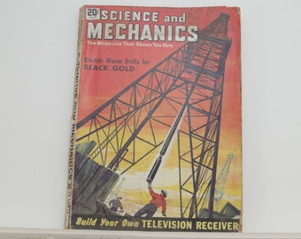 Science and Mechanics Magazine, October 1948, Great Condition - Fascinating Articles, Hundreds of Vintage Ads, Harley Davidson 125 Ad