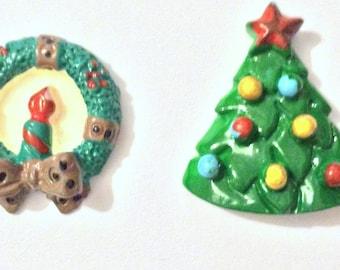 Christmas Needle Minder, Wreath Needle Minder, Tree, Festive Needle Keep, Pin Holder,Magnet, Stitch Minder, Needle Holder, Needle Keep