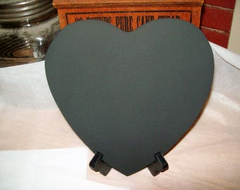 1 Large Heart Chalkboard Sign With Stand Easel  Wedding Photo Prop Table Sign  8 1/2 New Name Save Date