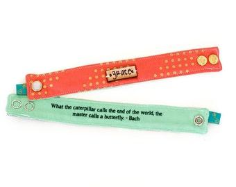 Inspirational Bracelet, Blessing Band™, Secret Message Bracelet, Grace Bracelet, Metal plate cuff, Quote Bracelet, Inspirational Cuff