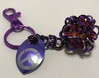 Widowmaker Inspired Dodecahedron Key Chain