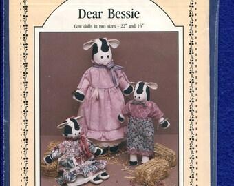 Prairie Farm Designs Dear Bessie Stuffed Cow Dolls UNCUT