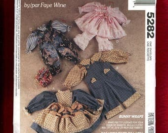 McCalls 5282 Country Bunny Rabbits Clothes Pattern