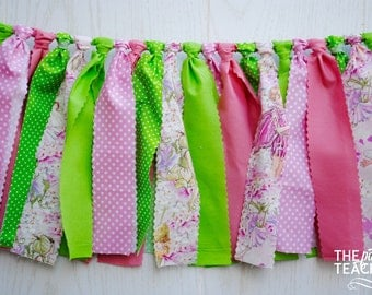 Pink Fairy Fabric Garland - FREE Shipping - Fairy Garland - Fairy Bunting - Fairy Banner - Fairy Fabric Garland - Fairy Party