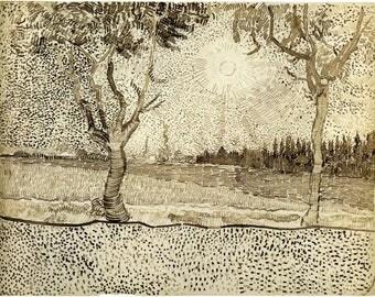 Van Gogh Reproduction.  The Road to Tarascon, 1888.  Fine Art Print.