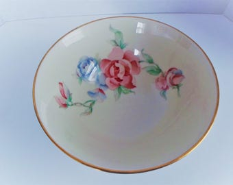 Lenox Chattsworth Decorative Floral Bowl Trimmed in 24 Kt Gold