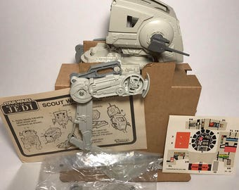 Vintage Star Wars Scout Walker AT-ST ROTJ Mint with Box