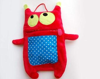 Decorative Pillow - pajama monster pillow - nursery decor - Pajama Pillow- Nursery decor pillow- Pajama eater - pajama bag - pj eater
