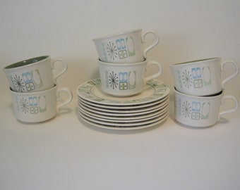 MCM Taylorstone Cathay - 6 cups, 8 saucers