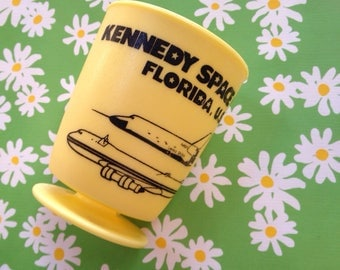 vintage NASA kennedy space center plastic mug by whirley industries