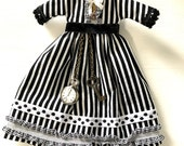 Blythe doll striped Steampunk Dress