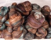 Fiber Batts-Turkey Feather -(4 oz.) Coopworth x Romney, bfl,  silk, bamboo, alpaca, silk noil
