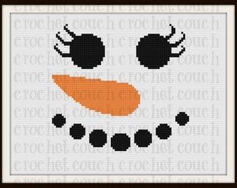Snowlady Closeup Twin Afghan, C2C Graph, Written Word Chart