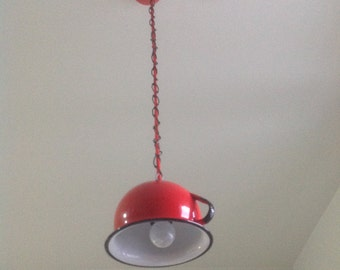 Recycled upcycled pedant lamp