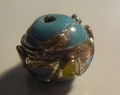 Turquoise Lampworked Glas...
