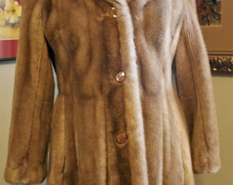 Tissavel France for Country Pacer Faux Fur Vintage Gored Jacket