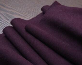 "Cashmere Wool Fabric, beautiful dark aubergine, 59"" 600g  beautiful fashion wool cashmere fabric for winter overcoat, by the yard"
