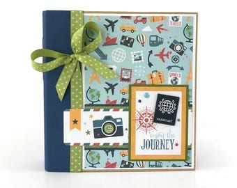 Travel Scrapbook Album Kit or Premade Mini Scrapbook Album Vacation Travel Journal