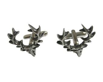 Simple Deer Head Cufflinks