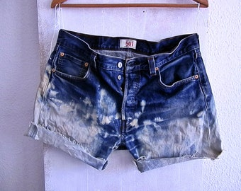 Sales ends today  price Women Levi High Waisted Bleached  Shorts - Vintage - Size 34