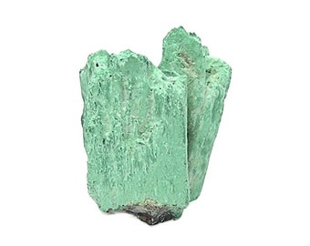 Azurite Crystals Pseudomorphed by Green Malachite Copper Mineral Specimen mined in Arizona, Collector's Choice